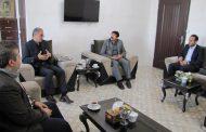 جلسه هم اندیشی هیأت رئیسه دانشگاه آزاد اسلامی سردرود با رئیس اتحادیه تابلو فرش سردرود